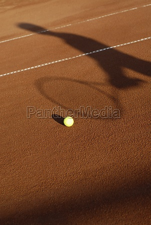 high angle view of a tennis