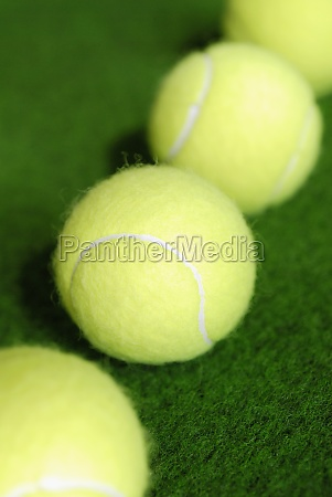 high angle view of four tennis