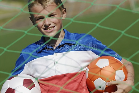 portrait of a soccer player standing