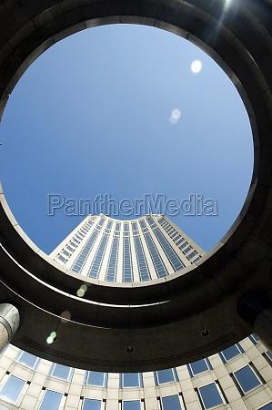 skyscraper viewed through a circle new
