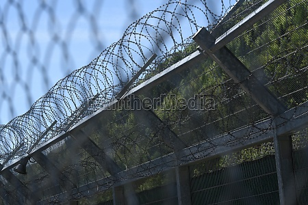 barbed wire fence as security measurement