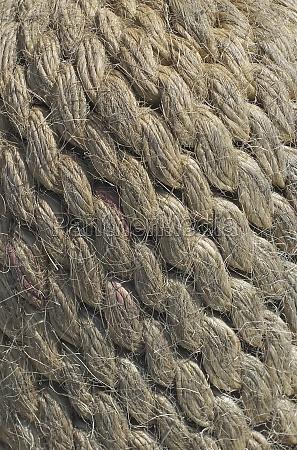 closeup of tangled rope