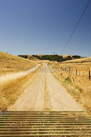 dirt road passing through arid landscape