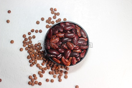 spices on white background with copy