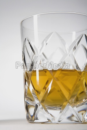 closeup of a whiskey glass