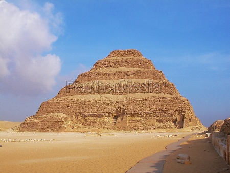 pyramid in an arid landscape the