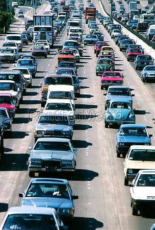 traffic on san diego freeway in