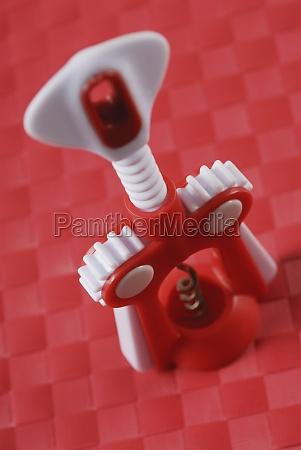 closeup of a corkscrew