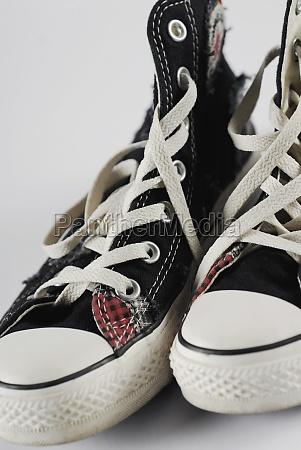 closeup of a pair of sneakers
