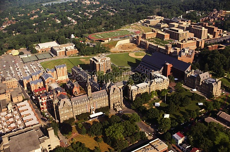 aerial view of a university georgetown