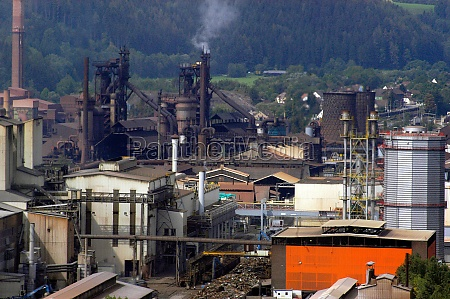 industrial site of a steel mill
