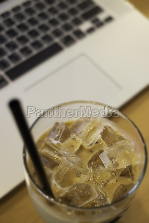 iced milk coffee drink for easy