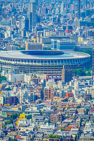 new national stadium and the tokyo