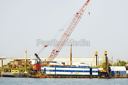 crane at a commercial dock savannah