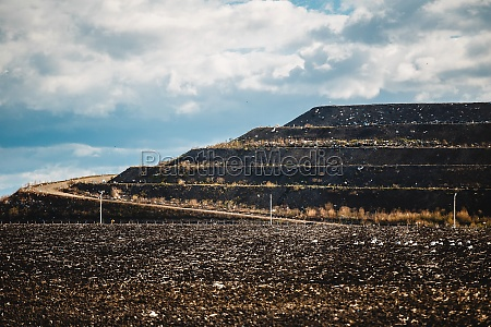 terraces at landfill arrival at the
