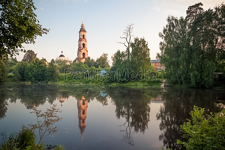 old church by the lake ancient