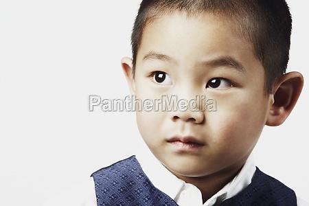 close up of a boy posing