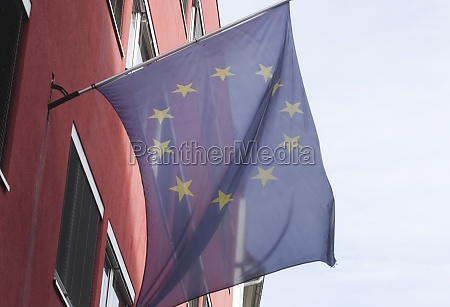 european union flag blue flag with
