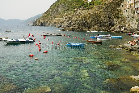 boats in the sea cinque terre