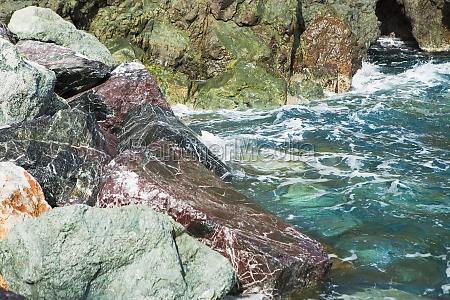 rock formations in the sea italian