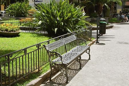bench at a roadside piazza santZantonino