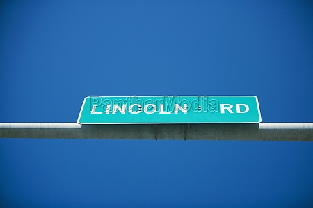 low angle view of street name