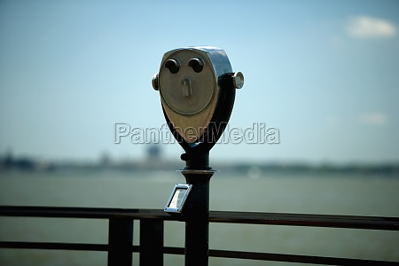 coin operated binocular at an observation