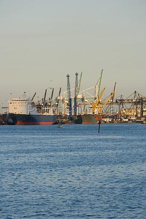 cranes at a port