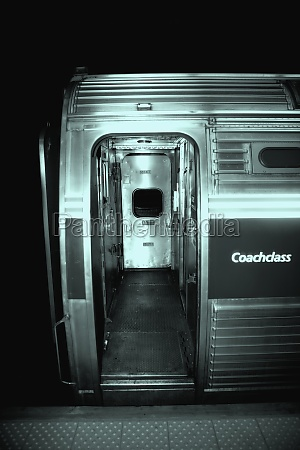 entrance of a subway train