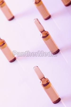 closeup of vials
