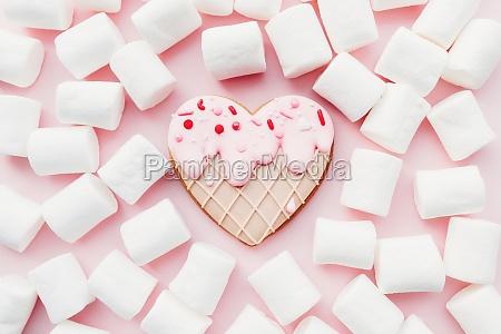 melt ice cream heart gingerbread cookie