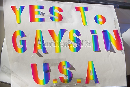 close up of a gay rights