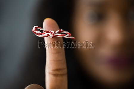 african american woman with memory ribbon