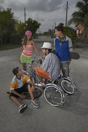 teenage boy on a low rider