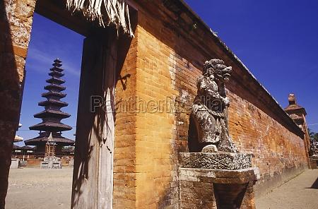 statue outside a temple bali indonesia
