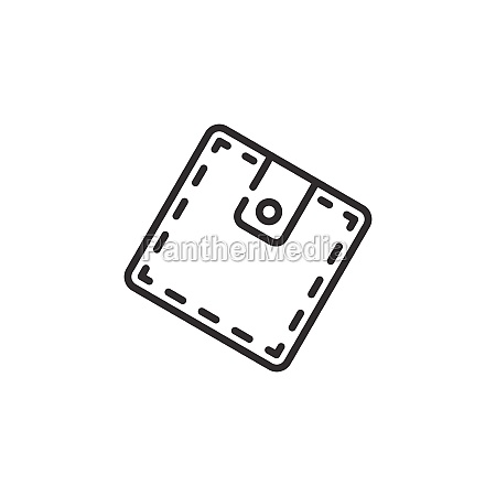 wallet thin line icon outline commerce