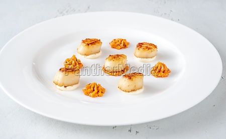 portion of fried scallops