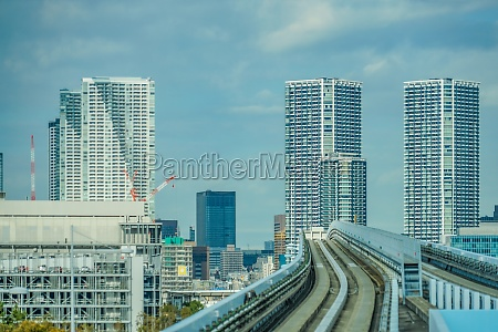 line and the tokyo skyline of