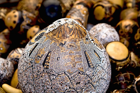 close up of handicraft items in