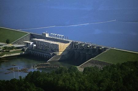 west point hydroelectric dam georgia usa