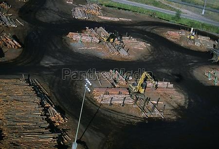 sawmill log handler at work idaho