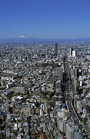 aerial view of tokyo japan