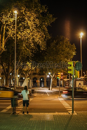 spain barcelona skyline night view