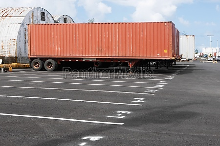 cargo container on the lane at