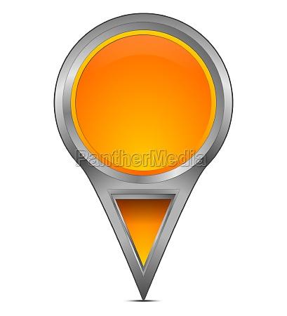 blank map pointer stick orange