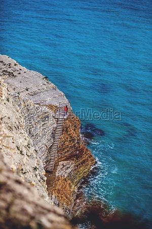two human figures on empty rocks