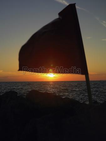 close up of a flag fluttering