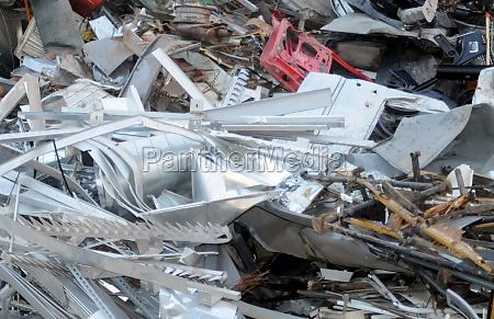 scrap metal in the scrap yard