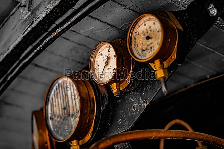 steam locomotive of the machine room