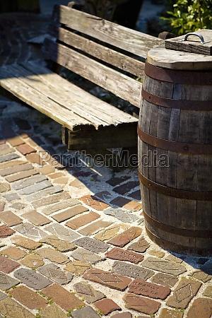 barrel near a bench florida usa